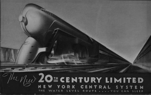 Railroad 20Th Century Limited Railway black and white poster