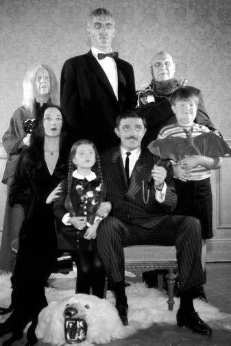 Addams Family Tv black and white poster