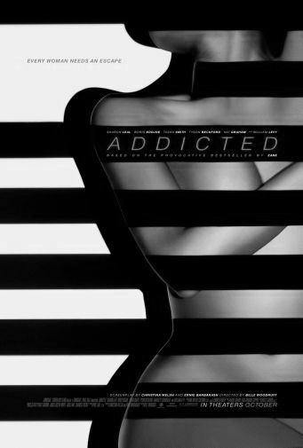 Addicted black and white poster