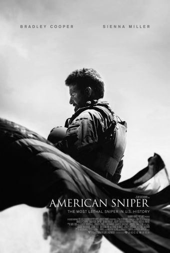 American Sniper black and white poster