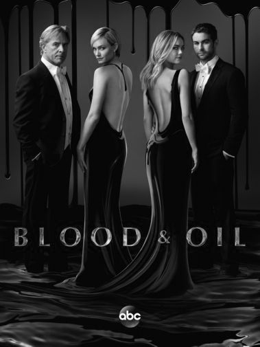 Blood And Oil black and white poster