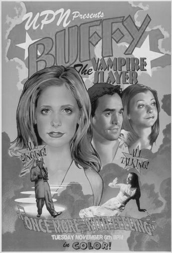 Buffy The Musical black and white poster