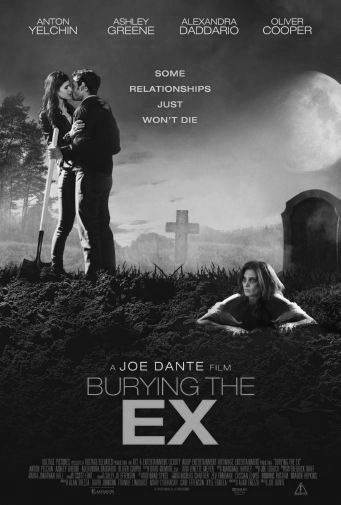 Burying The Ex black and white poster