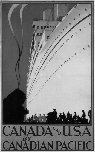 Canadian Pacific black and white poster