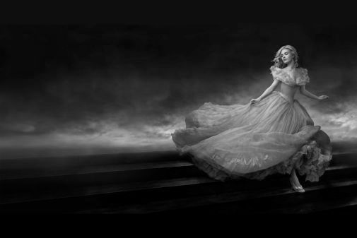 Cinderella black and white poster