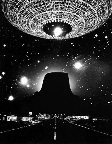 Close Encounters Of The Third Kind black and white poster