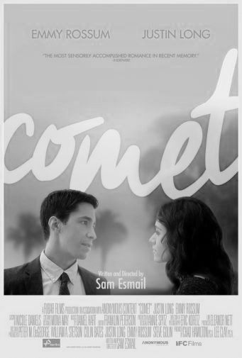 Comet black and white poster