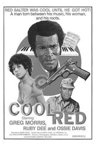 Cool Red black and white poster