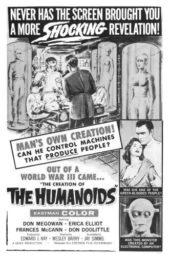 Creation Of Humanoids The black and white poster