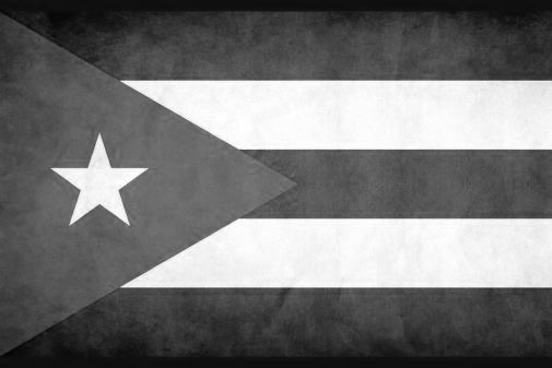 Cuba black and white poster