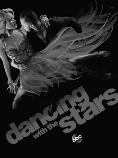 Dancing With The Stars black and white poster