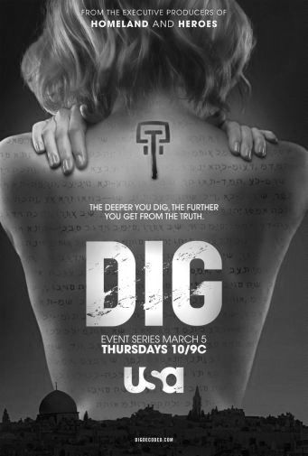 Dig black and white poster