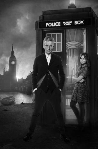 Peter Capaldi black and white poster
