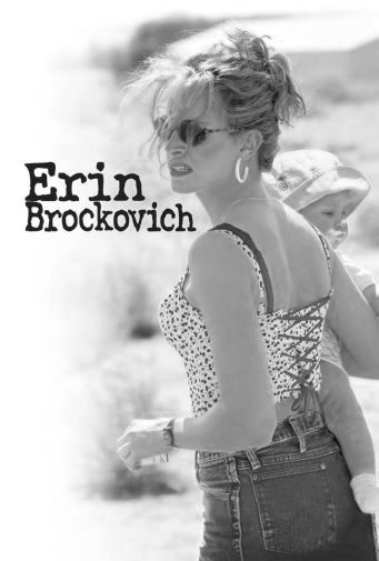 Erin Brockovich black and white poster