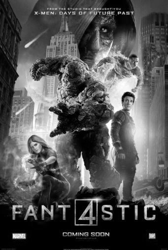 Fantastic Four black and white poster