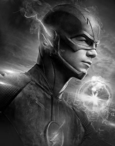 Flash black and white poster