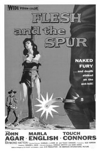 Flesh And The Spur black and white poster