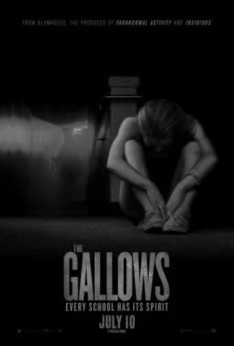Gallows The black and white poster