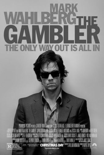 Gambler The black and white poster