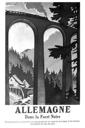Germany Black Forest black and white poster