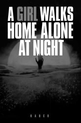 Girl Walks Home Alone A black and white poster