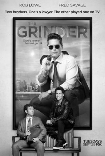 Grinder black and white poster
