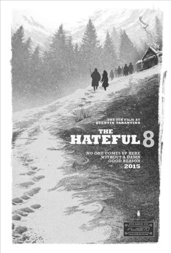 Hateful Eight The black and white poster