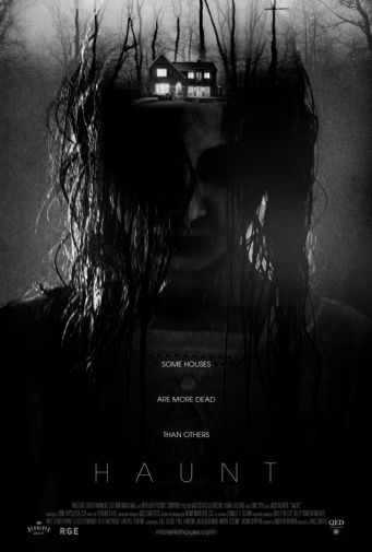 Haunt black and white poster