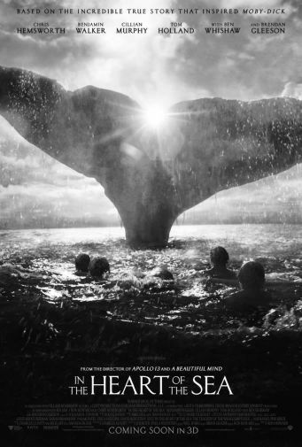 Heart Of The Sea black and white poster