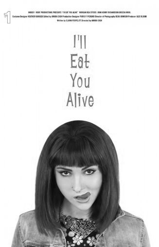 Ill Eat You Alive black and white poster