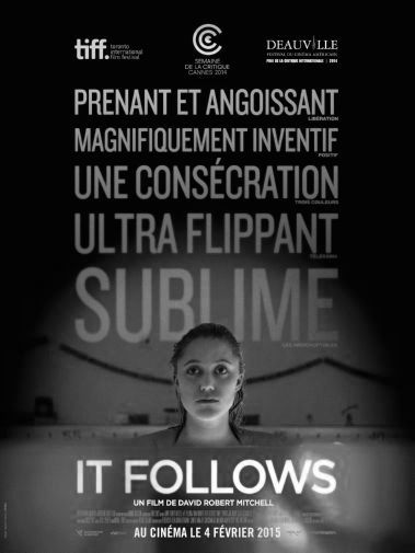 It Follows black and white poster