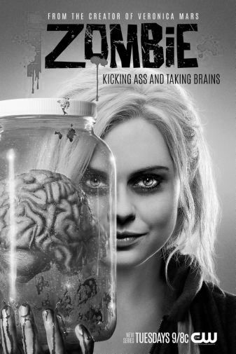 Izombie black and white poster