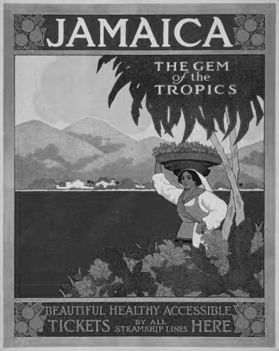 Jamaica black and white poster