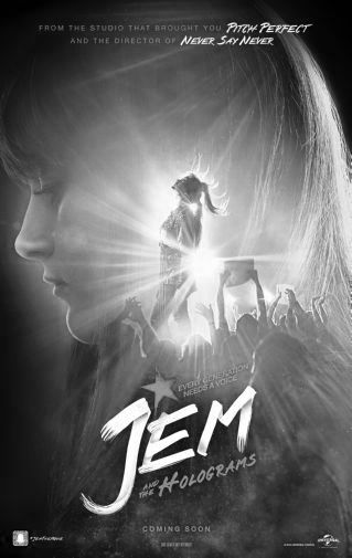 Jem And The Holograms black and white poster