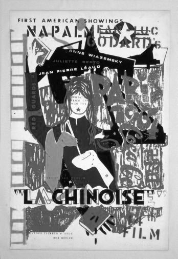 China La Chinoise black and white poster