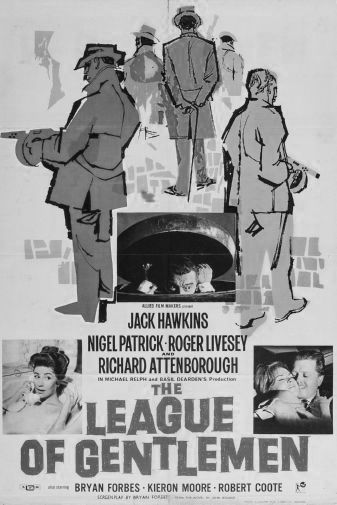 League Of Gentlemen The black and white poster