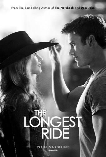 Longest Ride The black and white poster