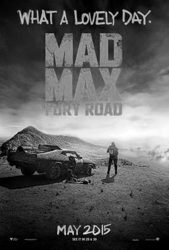 Mad Max Fury Road black and white poster