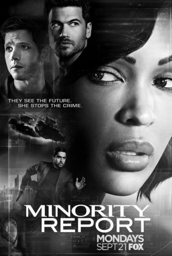 Minority Report black and white poster