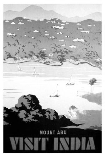 India Mount Abu black and white poster