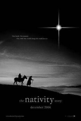 Nativity Story The black and white poster