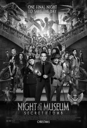 Night At Museum black and white poster