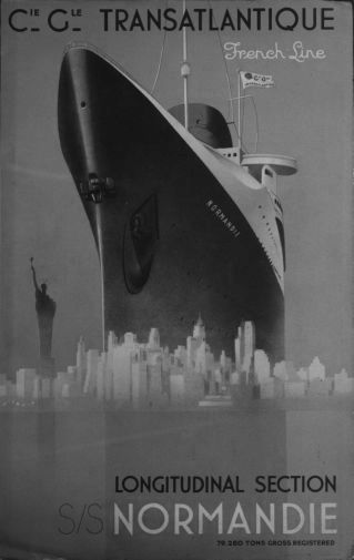 France Cruise Line black and white poster