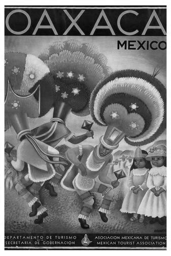 Mexico Tourism black and white poster