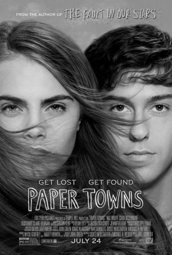Papertowns black and white poster