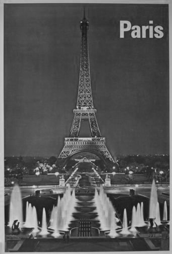 Paris black and white poster