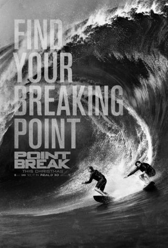 Point Break black and white poster