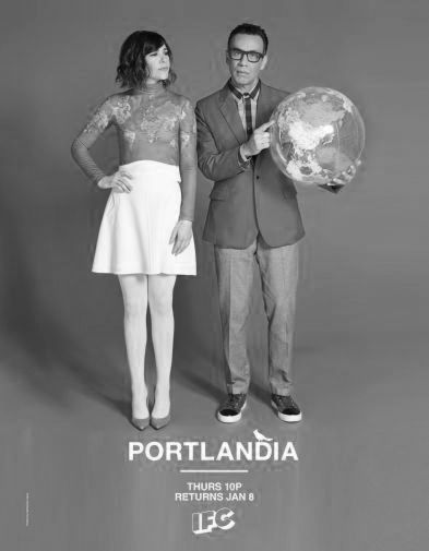 Portlandia black and white poster