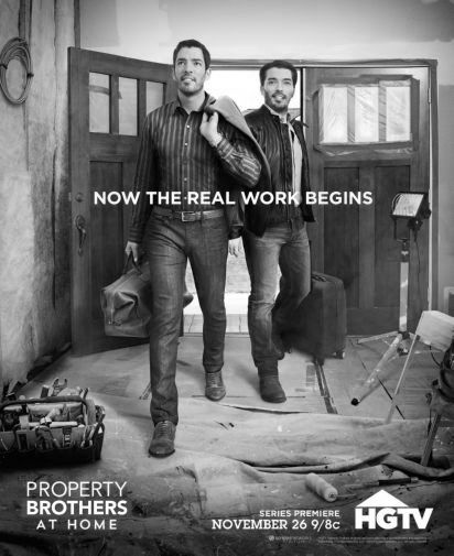 Property Brothers black and white poster