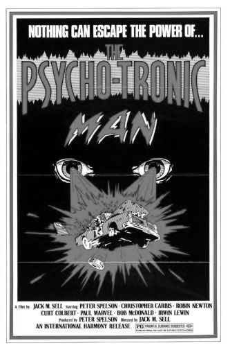 Psychotronic Man black and white poster
